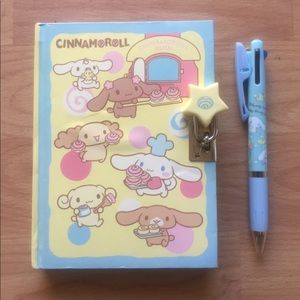Cinnamoroll Diary and Pen Lot